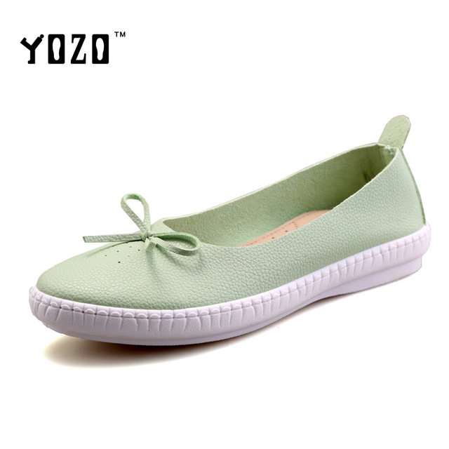 YOZO Women Shoes Fashion Split Leather Slip On Loafers Women Flat Casual Shoes Spring Brand Shoes Women Zapatos Mujer