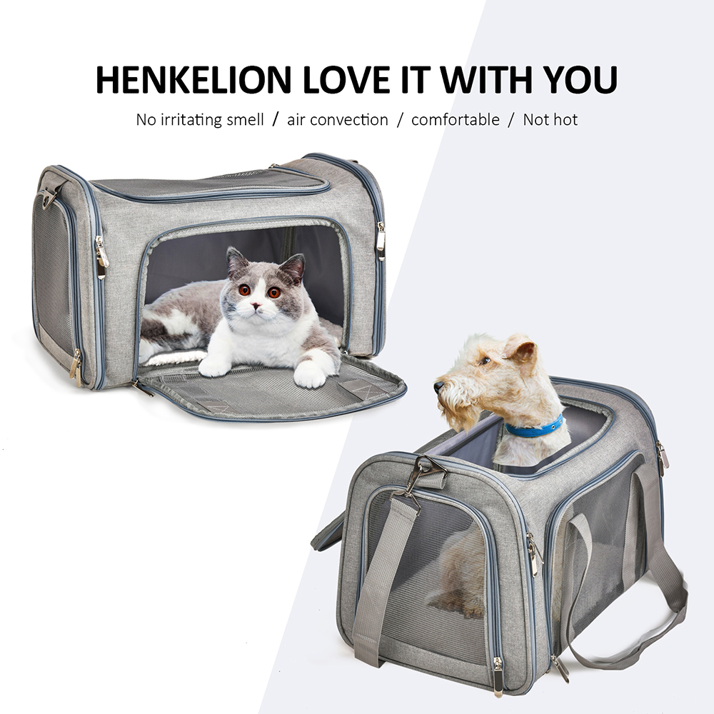 Image 2 - Dog Carrier Bags Portable Pet Backpack Messenger Cat Carrier  Outgoing Small Dog Travel Bag Soft Side Breathable MeshDog Carriers