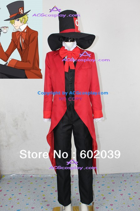 Ouran High School Host Club Tamaki Suoh Cosplay Costume with big hat GOOD quality ACGcosplay