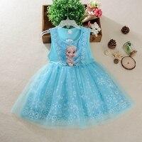 Disney Kız elbise dondurulmuş Elsa elbise + pelerin kostüm prenses vestido çocuklar elbiseler karikatür sevimli baskı yaz cosplay parti elbise