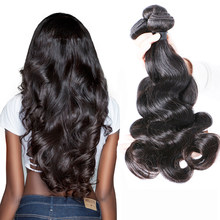 Indian Hair Body Wave 4 Bundles Natural Human Hair Double Weft Thick Human Hair Weave Bundles Brenda Remy Hair Extensions 8-30(China)