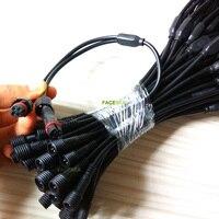 50 шт. 100 шт. 4 pin Водонепроницаемый светодио дный полосы света разъем 1 Мужской до 2 Женский splitter кабель 40 см Бесплатная доставка