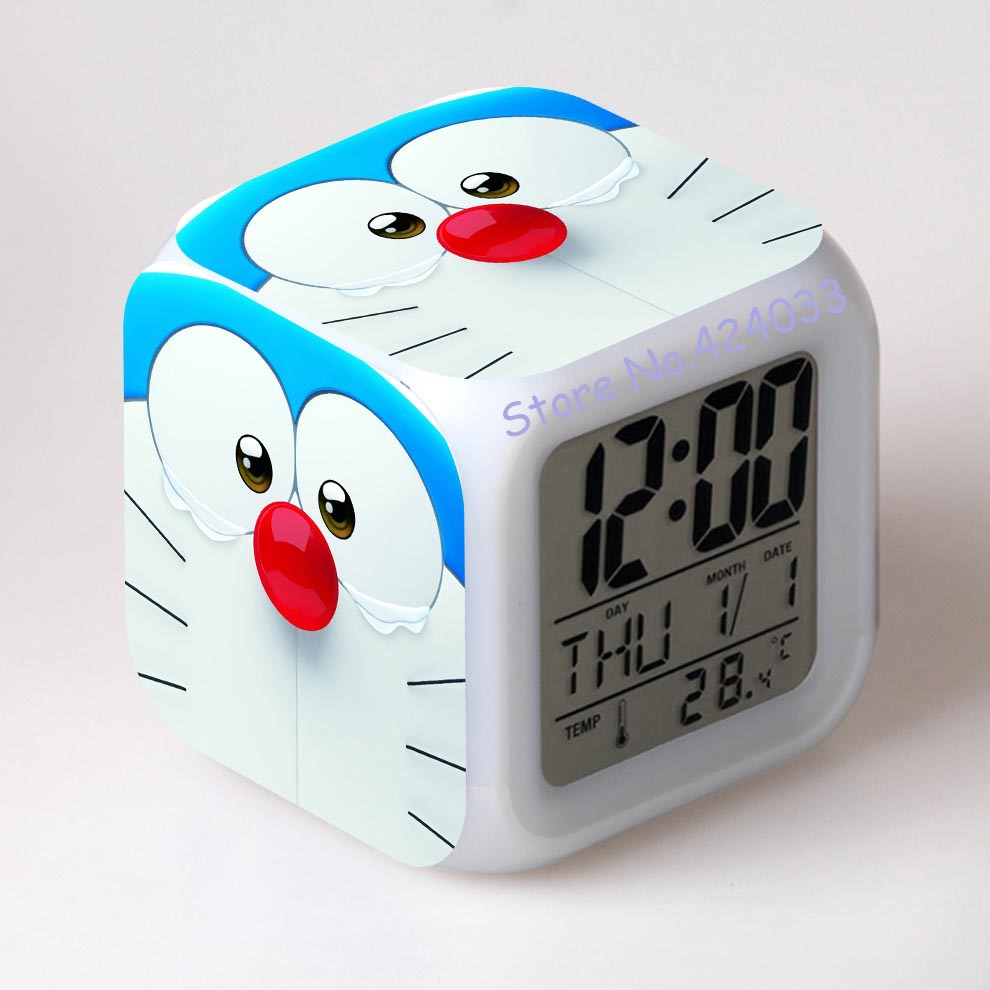 online get cheap cool digital clocks aliexpresscom  alibaba group - new arrived doraemon cool alarm clocks japanese anime thermometer nightcolorful glowing toys(china (