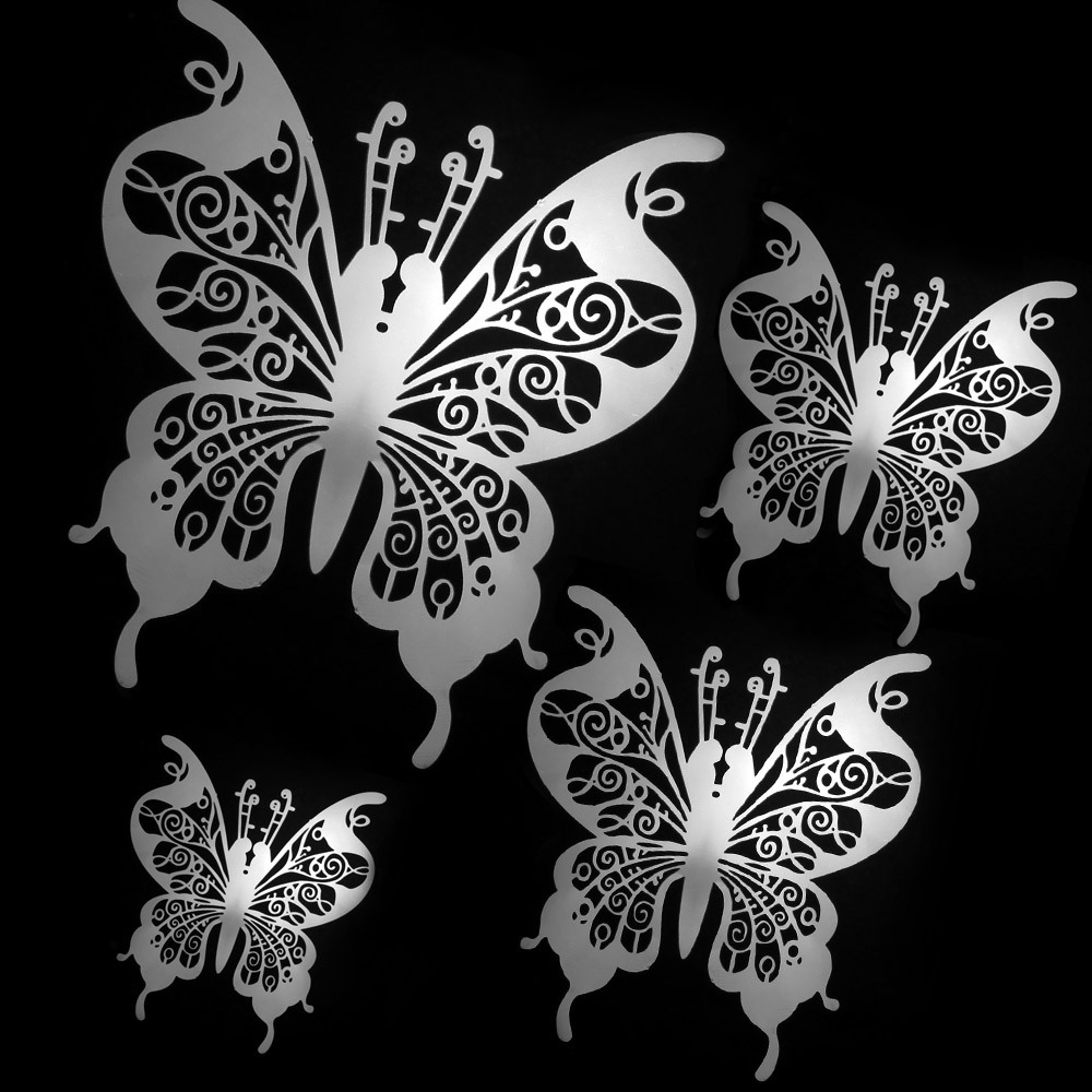 Stainless steel butterfly windows door ornaments wall decoration diy bead curtain accessories