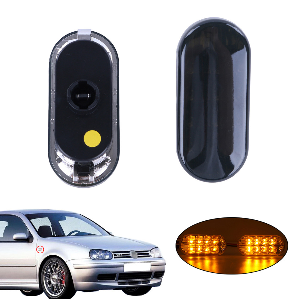 For VW Golf Mk4 Beetle Bora Jetta Passat B5 LED Turn Signal Light Lamp Side Amber Marker Light 1999-2004 / 2pcs for vw sharan 2001 2002 2003 2004 2005 car styling side marker turn signal light lamp repeater