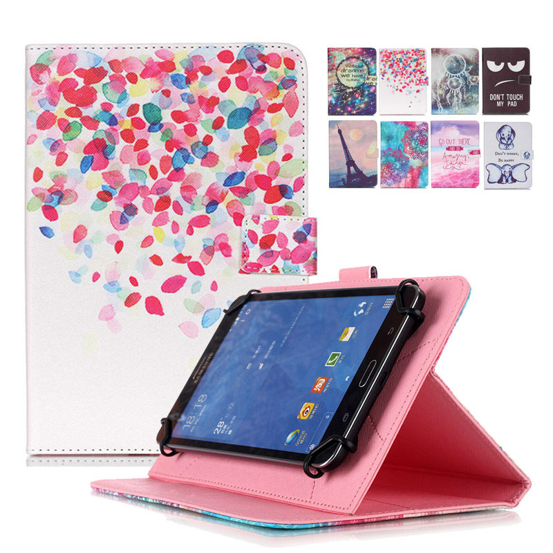 Universal Cover for Prestigio MultiPad 4 PMP5297C/PMP5097 PRO 10.1 inch Tablet Printed PU Leather Case+Center Film +pen KF492A case cover for goclever quantum 1010 lite 10 1 inch universal pu leather for new ipad 9 7 2017 cases center film pen kf492a