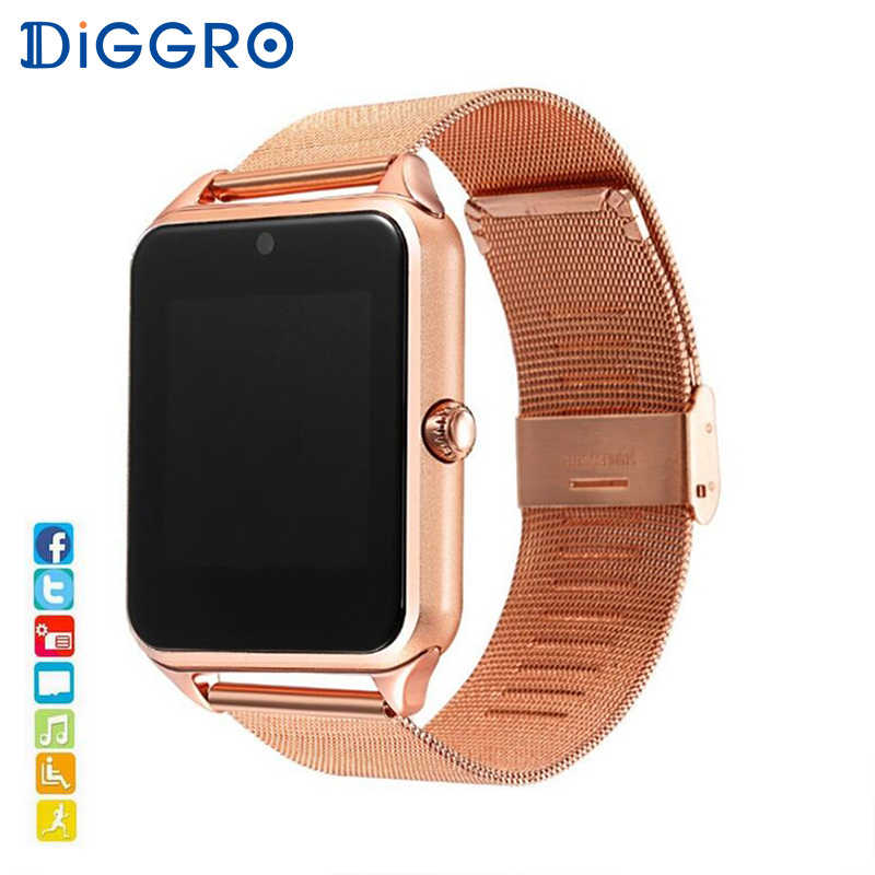 Diggro GT08 Plus Metal Strap Smart Watch Z60 Bluetooth Wrist Smartwatch Support Sim TF Card Android Watch pk Q9
