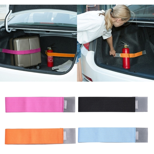 Universal Car Trunk Elastic Stickers Content Bag Storage Network Organizer Strap-M15