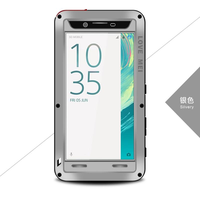 Amour Mei Armure La Vie Imperméable À L'eau En Métal En Aluminium Cas de Téléphone portable pour Sony Xperia Z1 Z2 Z3 Z4 Z5 Premium Compact M5 Shell logement
