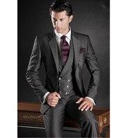 Индивидуальный заказ Новый Slim Fit мужской костюм смокинг вечерний для шафера свадебные костюмы