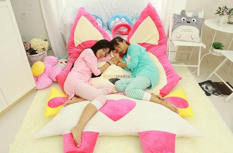 Fancytrader 230cm X 165cm Huge Giant Pink ALI Fox Bed Carpet Sofa Tatami, Free Shipping FT90360 (1)