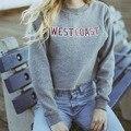 Free Shipping 2016 Winter Autumn Women Sweatshirts Short Westcoast Tumblr Print Funny Female Thicken Warm Female Hoodies