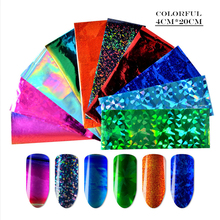 Non-sticky Laser Nail Foils Stickers 3 Styles Colorful Sticker DIY Starry Metal Effect Art Foil Paper LDE01