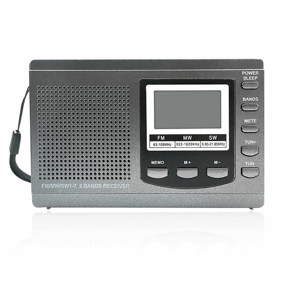 ポータブルミニ FM ラジオ受信機 SW/MW デジタルラジオ内蔵液晶ディスプレイ高品質ラジオキット