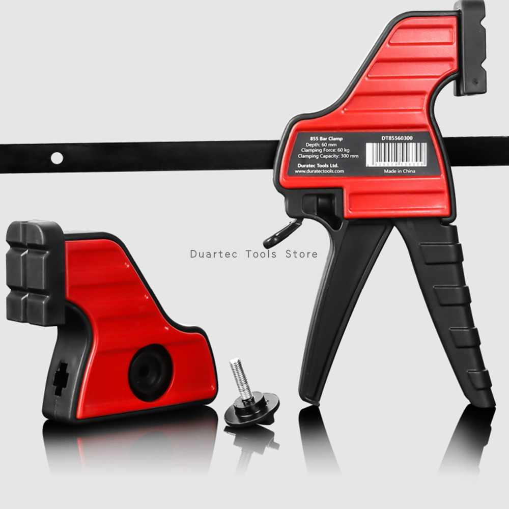DURATEC 12inch Quick Grip Bar Clamp One Hand Multiple Specifications Woodworking