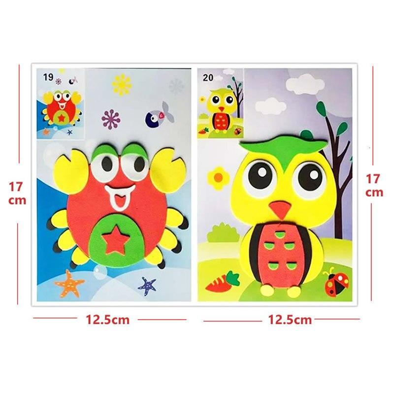 DIY hecho a mano 3D Eva Foam Puzzle Sticker libro de colorear Pintura - Educación y entrenamiento - foto 5