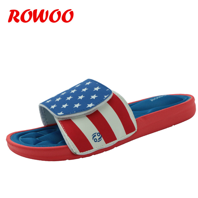 8e02e46d74c194 Mens Slippers Breathable Star Striped Memory Foam Indoor Comfortable Flip  Flops Beach Sandals Outdoor New Summer Sandals Men