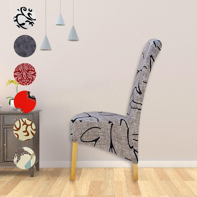 Xl estilo europa assento grandes tampas impressas longa volta cadeira capa king voltar cadeira capas banquete de festa do hotel housse de chaise