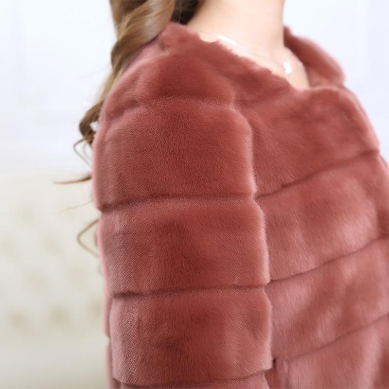 Nerazzurri Faux Pelzmantel Frauen plus Größe pelzigen Nerz Pelz Top - Damenbekleidung - Foto 6