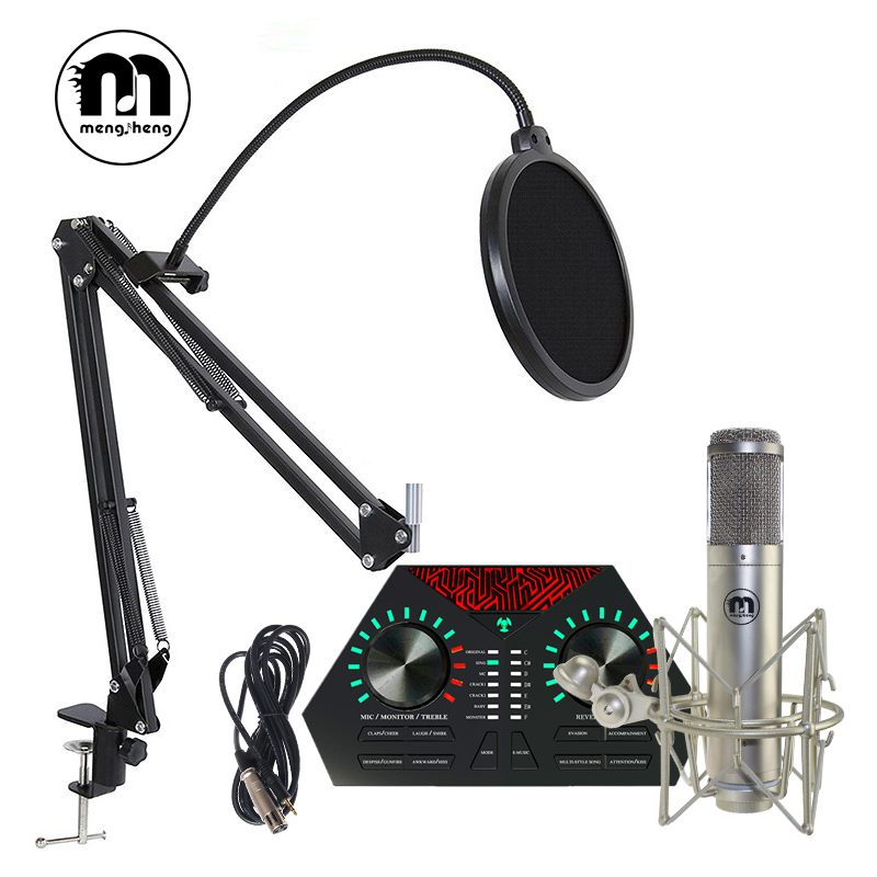 M5 Microphone Professional Wired Handheld Karaoke Microphone studio For Singing system Party KTV Amplifier Condenser dynamic Mic ur6s professional uhf karaoke wireless microphone system 2 channels cordless handheld mic mike for stage speech ktv 80m distance