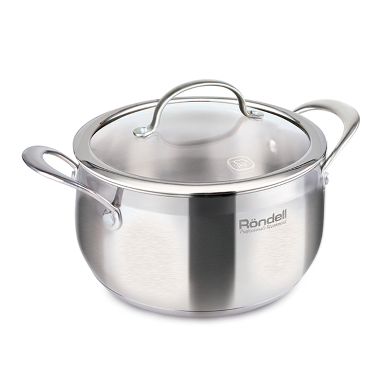 Фото - Saucepan with lid Rondell Admiring RDS-725 (Diameter 20 cm, volume 3.8 L stainless steel, suitable for all types of plates) saucepan with lid eurostek es 1007 volume 4 5 liter diameter 22 cm пятислойное bottom suitable for all types of plates