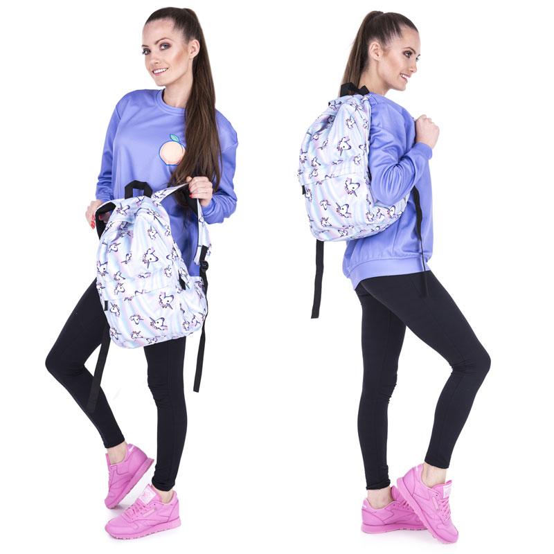 Купить с кэшбэком Cute Unicorn Backpacks for Teenage Junior Cartoon Animal School Bag Girl Set Bags with Case Laptop Kid Backpack Bookbags Mochila