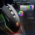 V1 USB 3200DPI Kabel Bunte Hintergrundbeleuchtung LED Ergonomische Gaming Maus Für Laptop PC-in Mäuse aus Computer und Büro bei