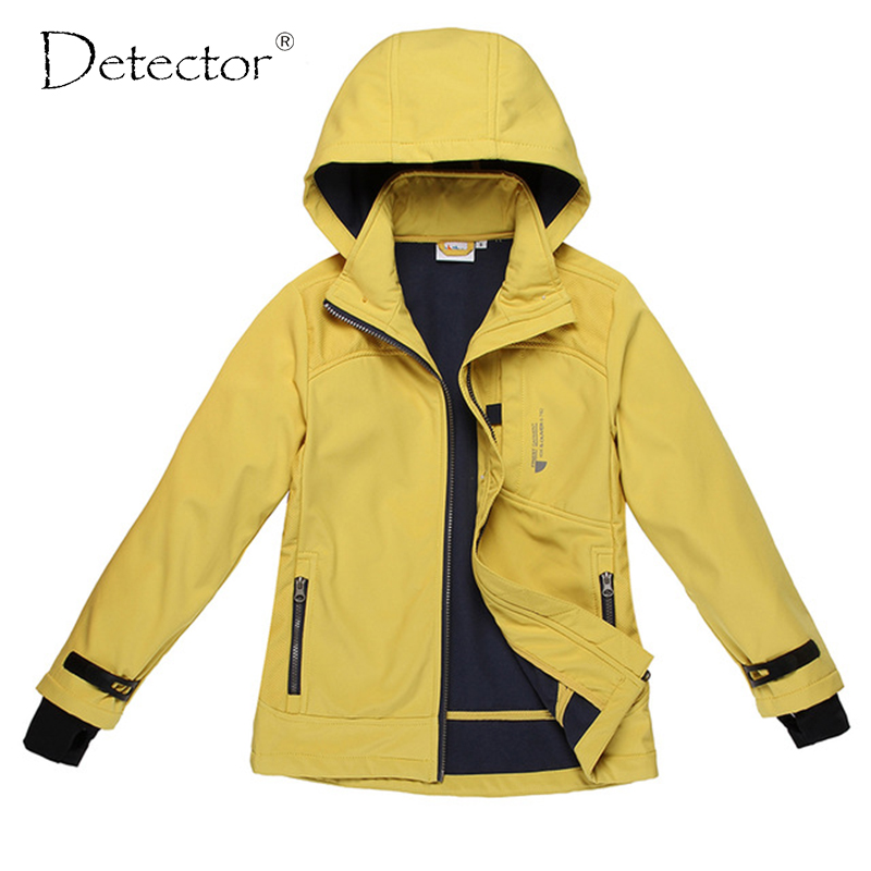 Detektor velká dívka softshellová bunda žlutá navy S-XL