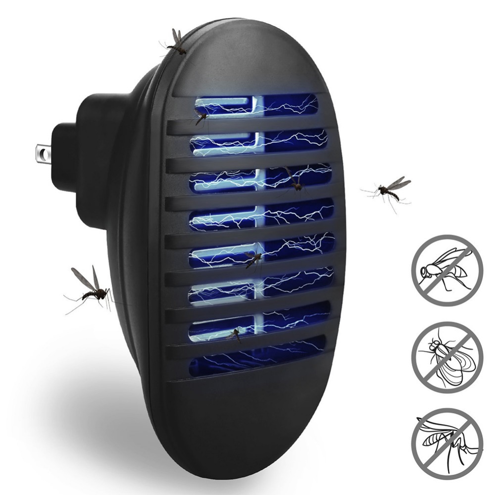 Electric Mosquito Killer Lamp LED Indoor Insect Killer Light Socket Anti Wasp Pest Fly Household Bug Zapper For Bedroom Kitchen