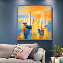 Aritist 100% Hand Painted large Size landscape Oil Painting Home Decor artwork abstract painting Wall Pictures For Living Room цена