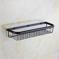 45cm Brass Wall Mounted Bathroom Shelves Retro Kitchen Storage Shelves Baskets Square Antique Copper Shelf Basket
