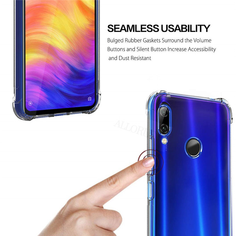 Shockproof Case Redmi Note 7 Note 5 Pro Redmi 7 Soft Silicone Protective Case for Redmi Note 7 5 Pro Case Transparent Back Cover in Fitted Cases from Cellphones Telecommunications
