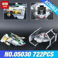 Lepin 722pcs Stars Wars Vader S Tie Advanced Vs Awing Model Building Blocks Brick Toy 05030