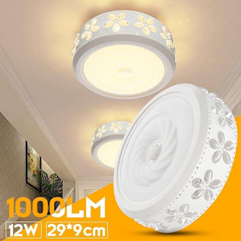 12W 6000K LED Ceiling Down Light Flush Mount Light Fixture Bathroom ...