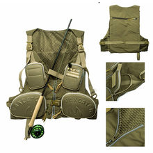 New 2018 Outdoor Fishing Hunting Vest for Fishing Clothing Vests Jackets Adjustable Fly Vest Fishing Tackle Asseccories