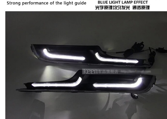 free shipping, for vw golf 7 DRL LED Golf MK7 LED daytime running waterproof lights guide DRL car styling Plug and LED Fog lamp