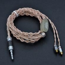 Wooeasy индивидуальный заказ 8 core монокристалл меди швартовки шелк наушники Обновление кабель для SE215 SE535 LZ A4 dqsm