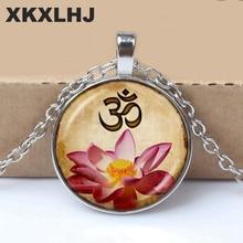 XKXLHJ 1 Piece Fashion White Zen Buddhism Yoga Muslim Meditation Mandala Necklace Vintage Jewelry High Quality