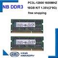 Высокое качество и скорость sodimm ноутбук памяти DDR3 16 ГБ (комплект из 2 шт. ddr3 8 ГБ) PC3-12800 204pin памяти ram