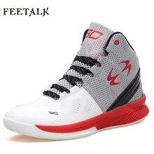 0e80b921 Feetalk Лидер продаж Детские кроссовки баскетбольные туфли амортизирующие,  дышащие мужские и Женские кроссовки(China