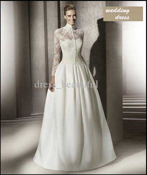 2012 MANUEL MOTA COLLECTION Classical Style High Neck Long Sleeve ...