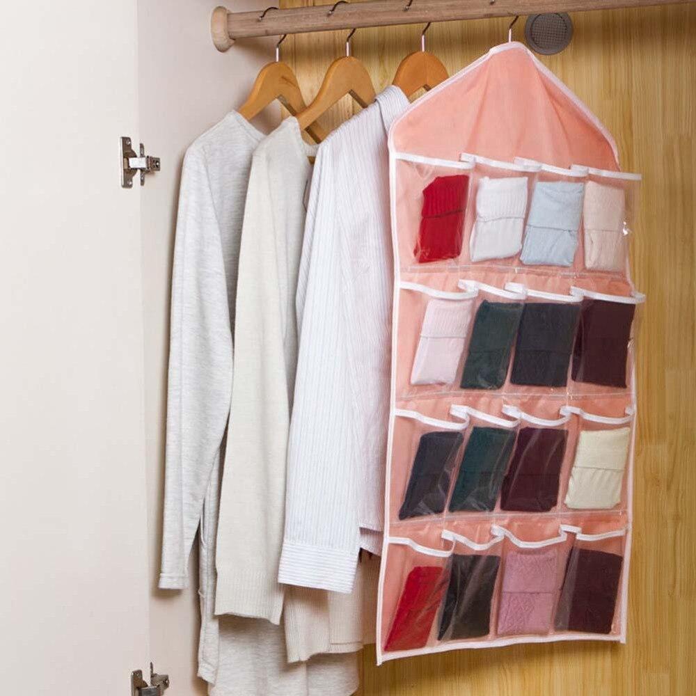 Hanging Closet Shoe Organizer Part - 39: Aliexpress.com : Buy 16 Pocket Over Door Hanging Bag Shoe Rack Hanger  Storage Tidy Organizer Pink Closet Shelves Diy Closet Organizer From  Reliable Closet ...