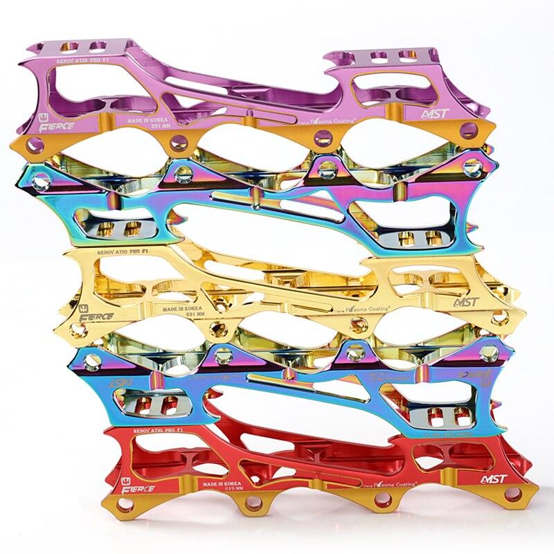 Image 2 - Роликовые коньки Банановая рама 7075 алюминиевого сплава встроенное лезвие скейт обувь подставки держатели 219 мм 231 мм 243 мм с 8 осями-in Светящиеся ролики from Спорт и развлечения
