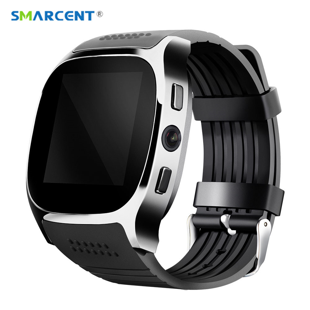 SMARCENT T8 Bluetooth Smart Watches With Camera Support SIM &TF Card Sync Call Message Smartwatch WristWatch pk DZ09 GT08 Q18