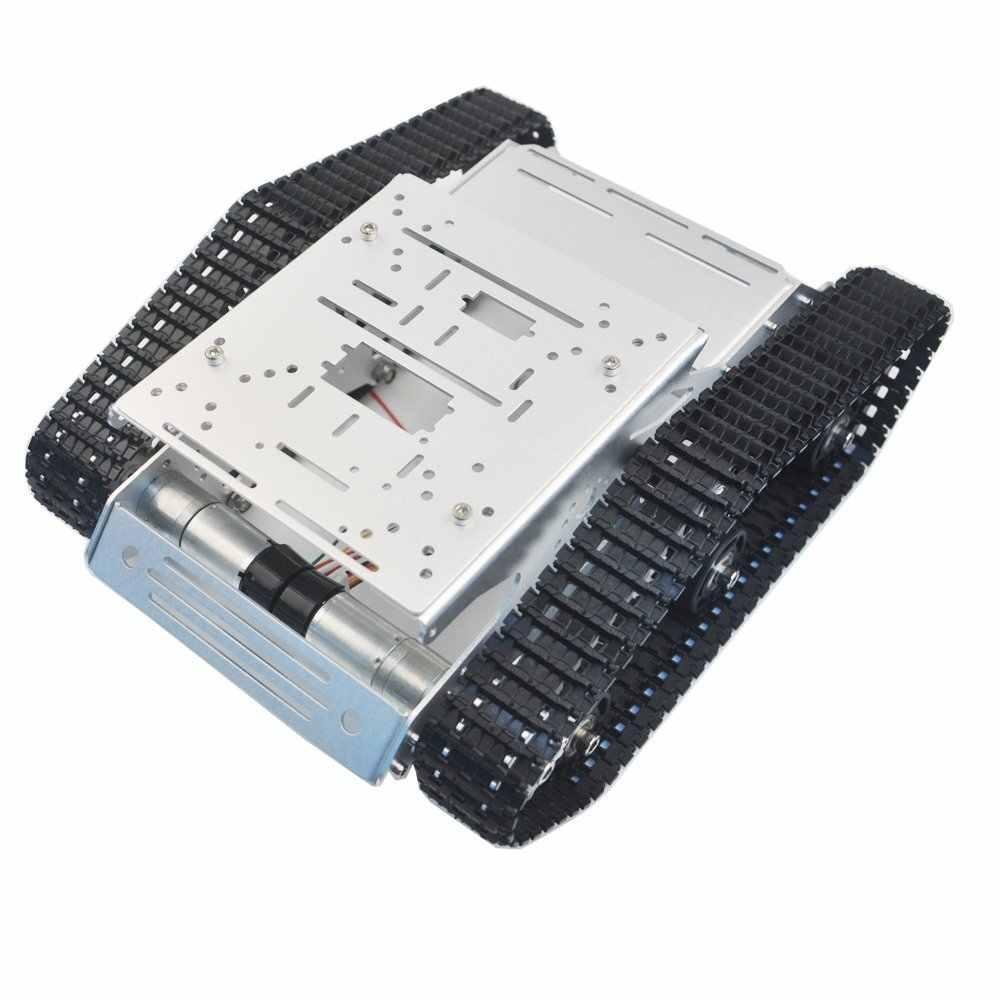 Гусеничный RC робот танк шасси с двойной двигатель постоянного тока Алюминий сплава рама Интерфейс отверстия для Роботизированная рука Arduino проекта DIY игрушка