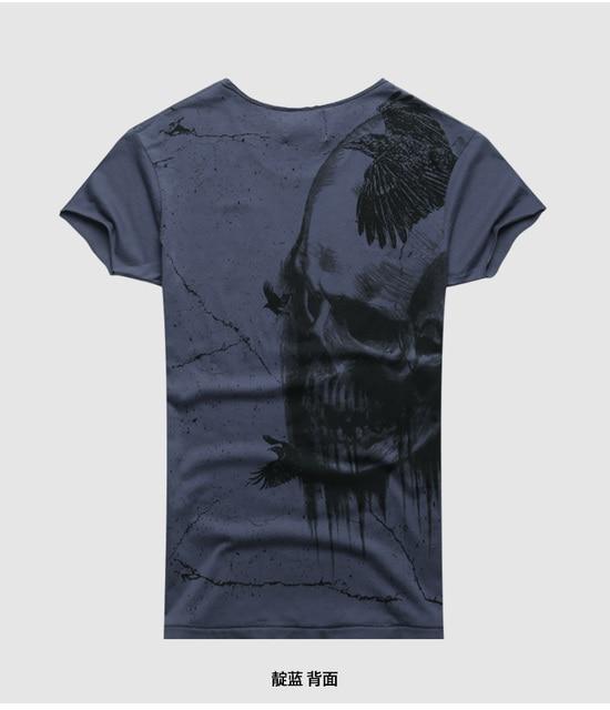 Men Summer Printed Skull...