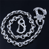 Новое ожерелье из чистого серебра, модная цепочка, Интайм, domineering, грубые европейские популярные украшения