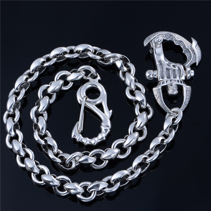New Necklace pure silver fashion chain intime domineering coarse European pop jewelry