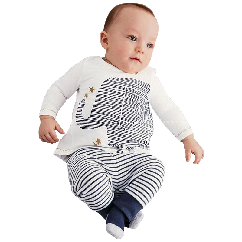 Baby boy clothes t shirt+pants cotton baby clothing set infant clothing newborn long sleeve