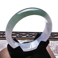 002014 Certified Grade A Natural Lavender Green Jadeite Jade Bracelet Bangle